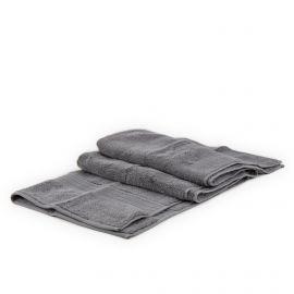 Serviette de bain grise unie coton VIVOVE