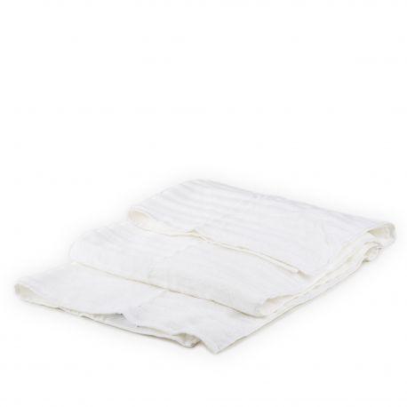 Serviette de bain blanche unie coton VIVOVE