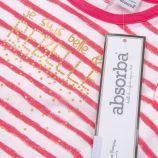 Body de nuit rose et blanc absorba ABSORBA marque pas cher prix dégriffés destockage
