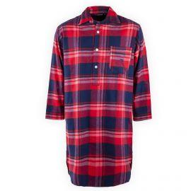 Chemise de nuit à carreaux rouge homme ARTHUR