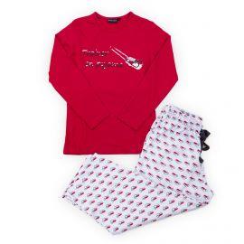 Pyjama rouge et blanc coton enfant ARTHUR