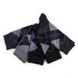 Lot de 5 paires de chaussettes losanges Homme AZERTEX