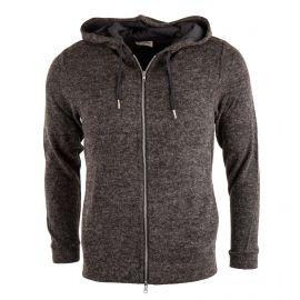Gilet zippé gris à capuche homme Douglas AMERICAN VINTAGE