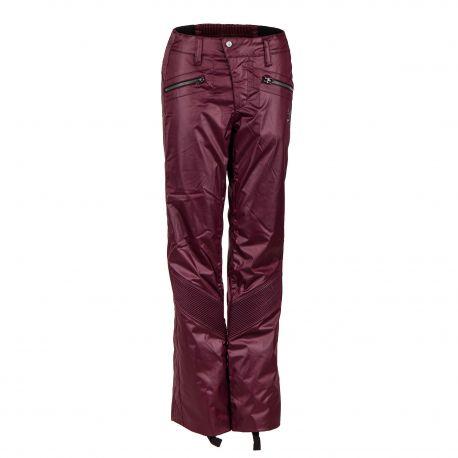 Pantalon de ski bordeaux effet enduit femme SPYDER marque pas cher prix dégriffés destockage