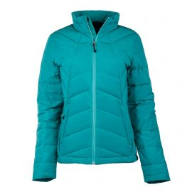Doudoune ski bleu turquoise femme SPYDER marque pas cher prix dégriffés destockage