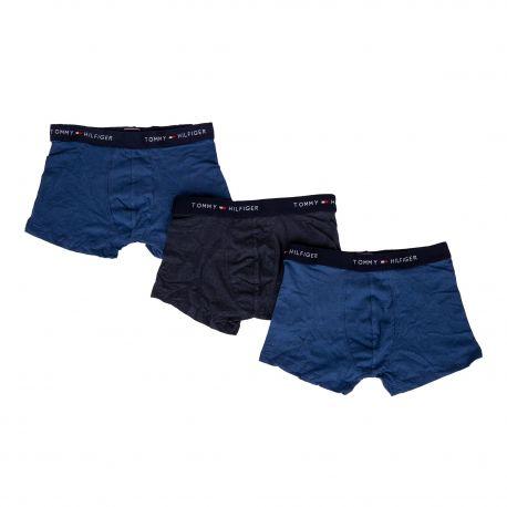 Lot de 3 boxers unis homme TOMMY HILFIGER marque pas cher prix dégriffés destockage