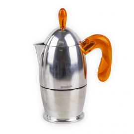 Cafetière 3 tasses en aluminium orange GUZZINI
