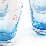 Lot de 6 verres à eau bicolores GUZZINI marque pas cher prix dégriffés destockage