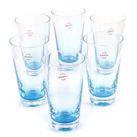 Lot de 6 verres bicolores GUZZINI marque pas cher prix dégriffés destockage