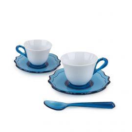 Set 2 tasses/sous tasses/cuilleres guzzini GUZZINI marque pas cher prix dégriffés destockage