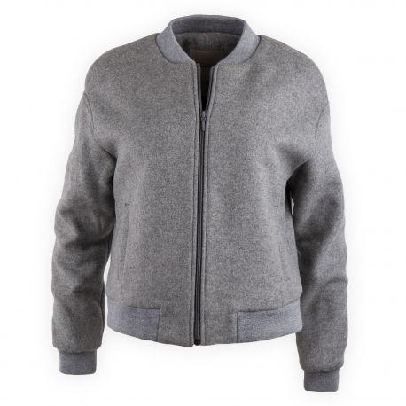 pas mal Garantie de satisfaction à 100% qualité de la marque Blouson bomber gris en laine femme Kamio AMERICAN VINTAGE