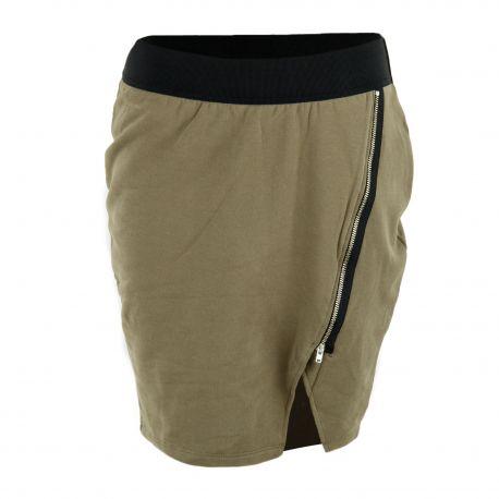 Jupe courte kaki en molleton femme AMERICAN VINTAGE marque pas cher prix dégriffés destockage
