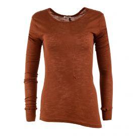 Tee shirt manches longues asymétrique femme AMERICAN VINTAGE