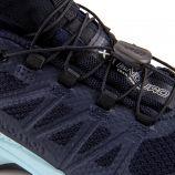 Baskets bleu foncé Quicklace mixte XA Enduro SALOMON marque pas cher prix dégriffés destockage