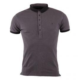Polo gris foncé coton piqué homme DEEPEND marque pas cher prix dégriffés destockage