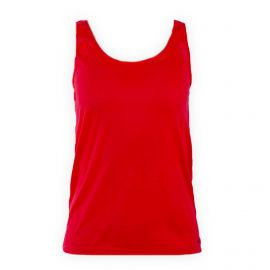 Débardeur basique rouge corail femme Coloramiz UNDIZ marque pas cher prix dégriffés destockage