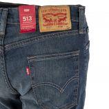 Jean bleu délavé homme 513 Slim Straight LEVIS marque pas cher prix dégriffés destockage