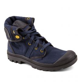 Bottines montantes en toile bleu marine Homme Pallabrouse Baggy PALLADIUM