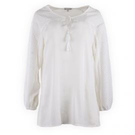 Blouse blanche col tunisien femme BEST MOUNTAIN