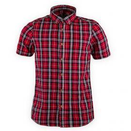 Chemise rouge à carreaux manches courtes homme BEST MOUNTAIN