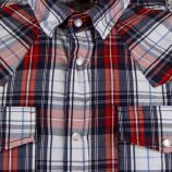 Chemise à carreaux bleu manches courtes homme BEST MOUNTAIN marque pas cher prix dégriffés destockage