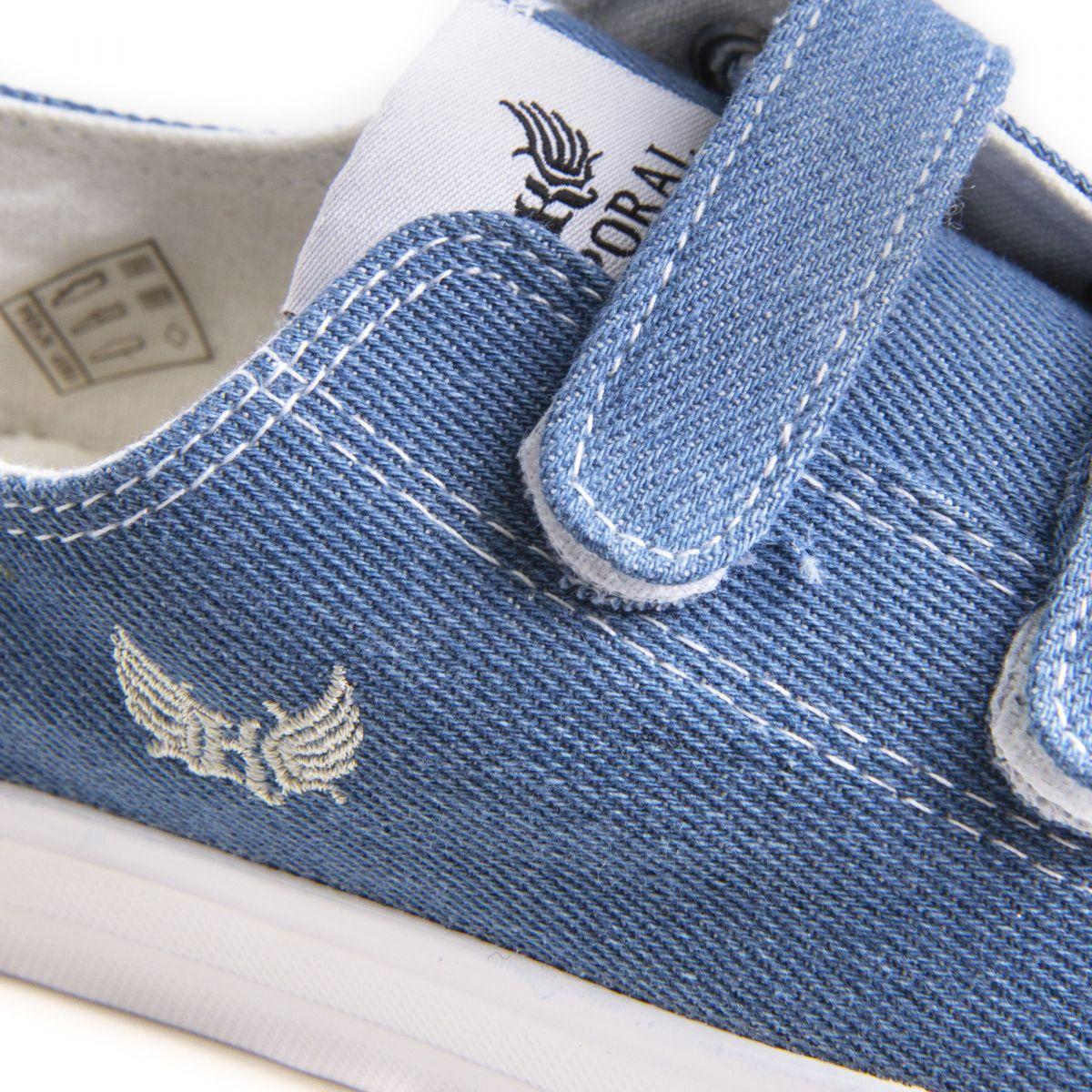Tennis bleu jean en toile à scratch enfant Rosy KAPORAL à prix