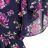 Robe bleu marine motif floral femme BEST MOUNTAIN marque pas cher prix dégriffés destockage