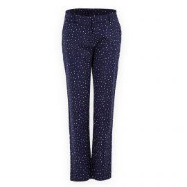 Pantalon droit bleu foncé motif coeur TOMMY HILFIGER