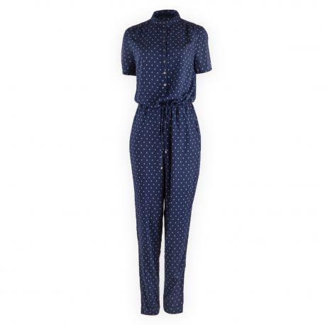 Combinaison pantalon bleu foncé imprimé femme TOMMY HILFIGER marque pas cher prix dégriffés destockage