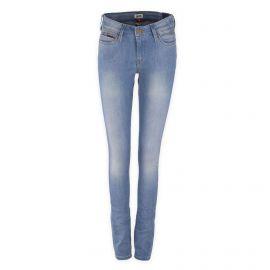 Jean skinny bleu clair taille mi-haute femme TOMMY HILFIGER marque pas cher prix dégriffés destockage