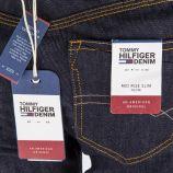 Jean slim bleu brut taille mi-haute femme TOMMY HILFIGER marque pas cher prix dégriffés destockage