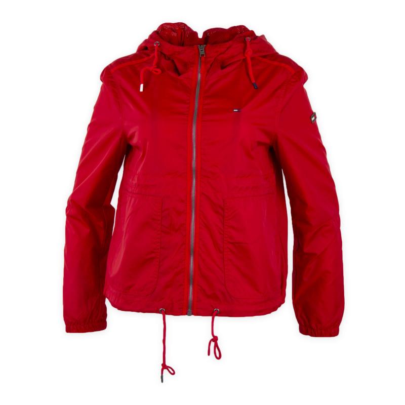 Coupe vent rouge femme TOMMY HILFIGER marque pas cher prix dégriffés destockage