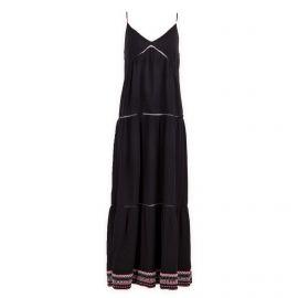 Robe longue noire femme TOMMY HILFIGER marque pas cher prix dégriffés destockage