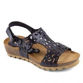 Sandales compensées noires femme Summer Texas DORKING marque pas cher prix dégriffés destockage
