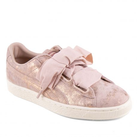 Basket cuir rose brillant 36727501 PUMA
