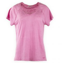 Tee shirt rose manches courtes Femme PEPE JEANS