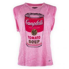 T-shirt rose sans manches Femme PEPE JEANS