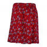Jupe rouge fleurie Femme DDP marque pas cher prix dégriffés destockage