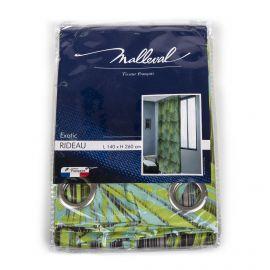 Rideau motif exotic 140x260CM MALLEVAL