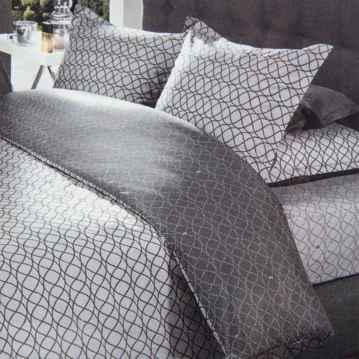 Parure de lit housse de couette 240x220 taies d 39 oreiller - Housse de couette en percale de coton ...