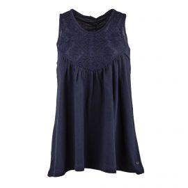 Tee shirt sans manches bleu foncé Femme DDP