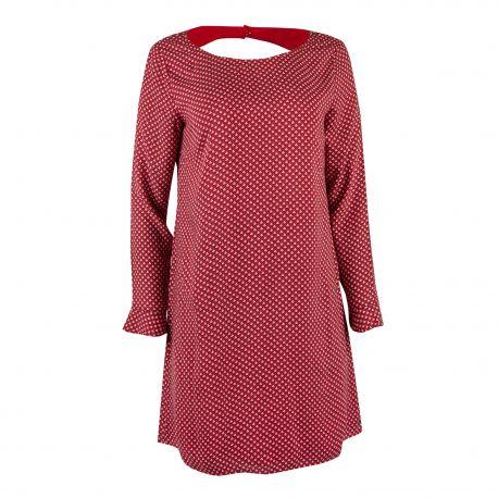 Robe imprimée rouge Femme DDP marque pas cher prix dégriffés destockage