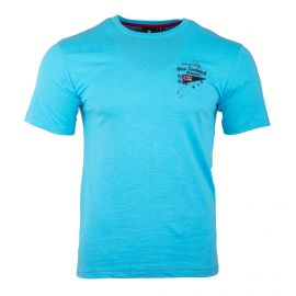 Tee  shirt manches courtes bleu turquoise Homme RUCKFIELD
