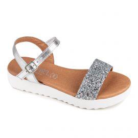 Sandales à paillettes plateforme Femme ISSA MIEL