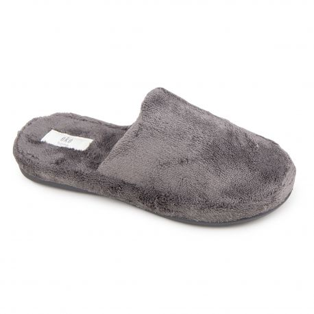 Chaussons polaire gris foncé Mixte EKE marque pas cher prix dégriffés destockage