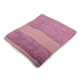 Serviette de douche violette 70x140cm Mixte EKE