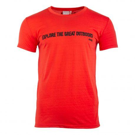 Tee shirt manches courtes col rond Homme JEEP marque pas cher prix dégriffés destockage