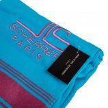 Foutas eponge 90x160cm turquoise/rose 0610017 Mixte JEAN LOUIS SCHERRER