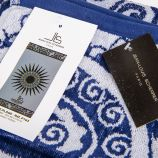 Drap de plage gris et bleu 90x170 JEAN LOUIS SCHERRER marque pas cher prix dégriffés destockage