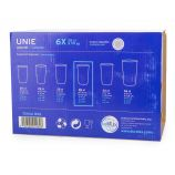 Lot de 6 verres 28cl unie Mixte DURALEX